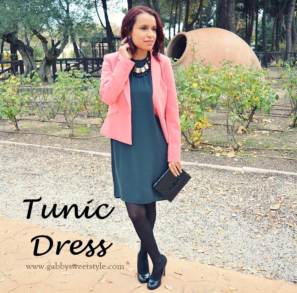 Look con vestido túnica