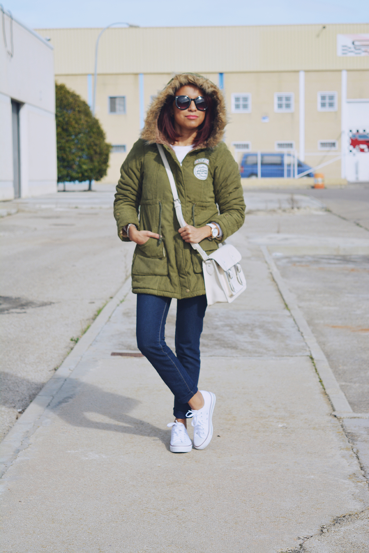 Look casual con parka 6