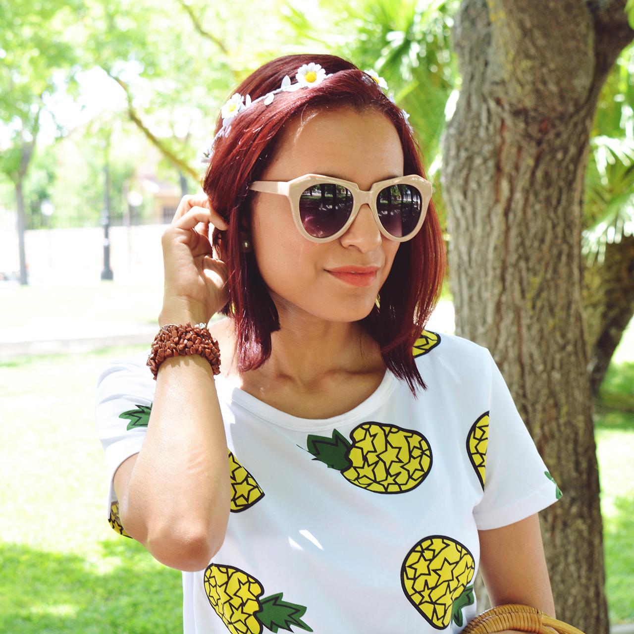 Falda y camiseta de piñas 7