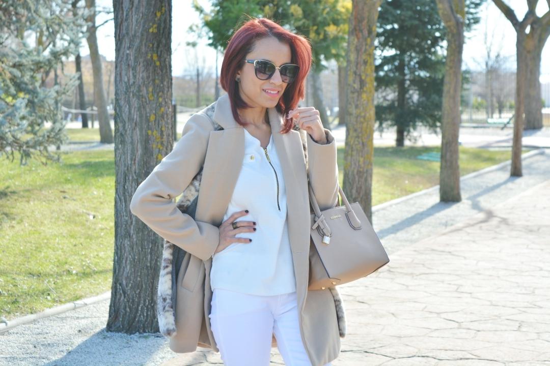 Cómo vestir de blanco en invierno