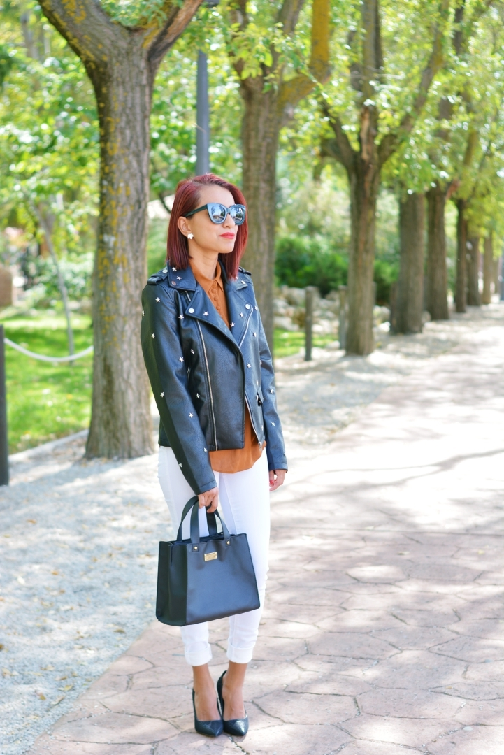 Outfit con biker negra