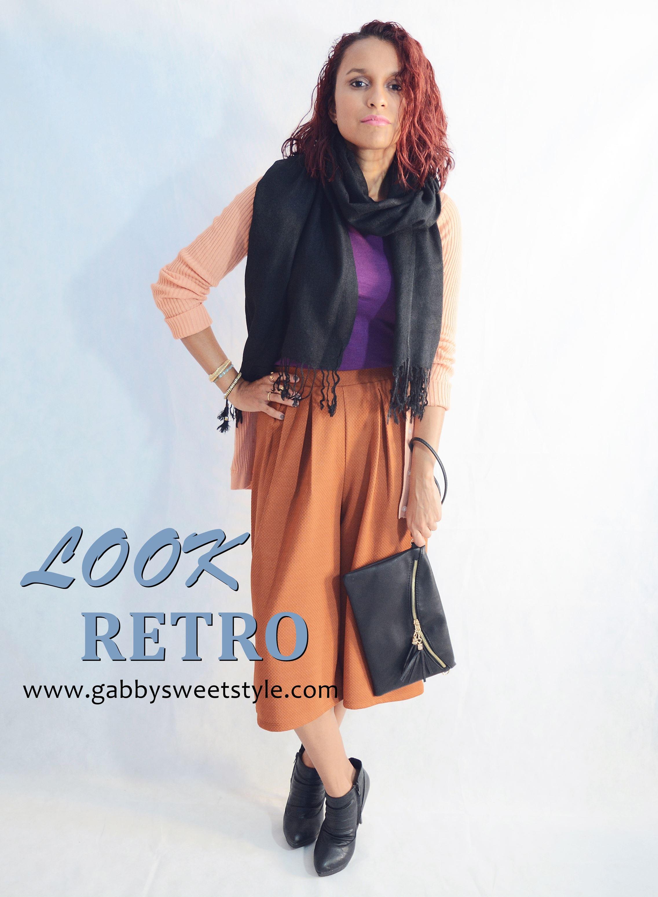 Look retro con pantalones CULOTTE